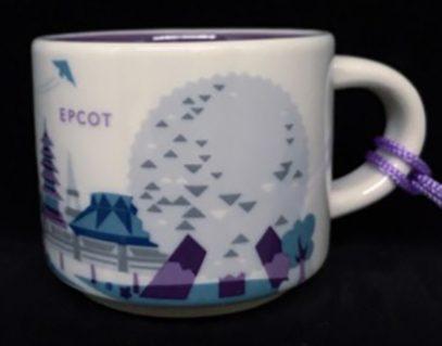 Starbucks You Are Here Ornament Disney Epcot mug