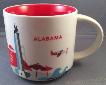 Starbucks You Are Here Alabama mug