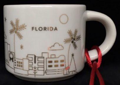 Starbucks You Are Here Ornament Christmas Florida mug