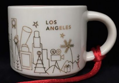 Starbucks You Are Here Ornament Christmas Los Angeles mug