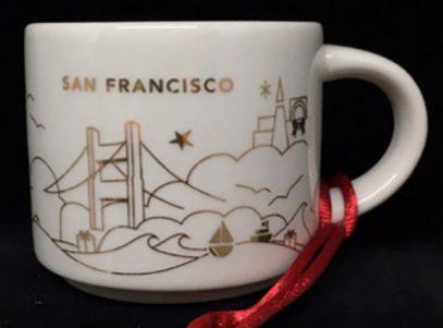 Starbucks You Are Here Ornament Christmas San Francisco mug