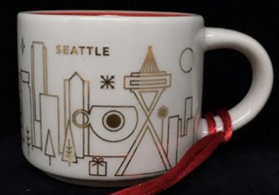 You Are Here Ornament Christmas Seattle Starbucks Mugs