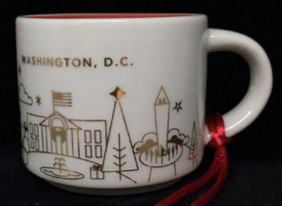 Starbucks You Are Here Ornament Christmas Washington D.C. mug