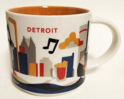 Starbucks You Are Here Detroit mug