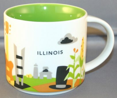 Starbucks You Are Here Illinois mug