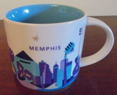 Starbucks You Are Here Memphis mug