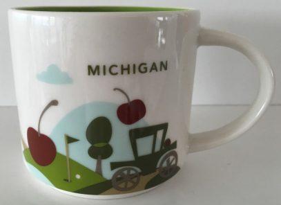 Starbucks You Are Here Michigan mug