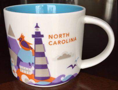 Starbucks You Are Here North Carolina mug