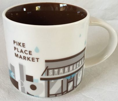 Starbucks Mug Been There Pike Place Market Seattle 14oz YAH New edition