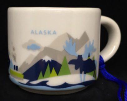 Starbucks You Are Here Ornament Alaska mug