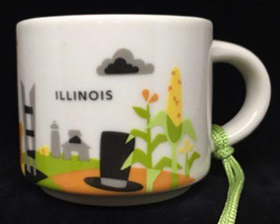 Starbucks You Are Here Ornament Illinois mug