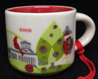 Starbucks You Are Here Ornament Ohio mug