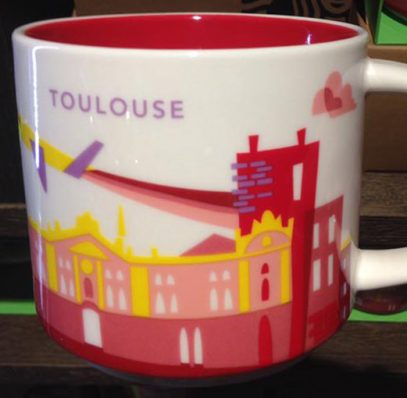 you are here toulouse starbucks mugs. Black Bedroom Furniture Sets. Home Design Ideas
