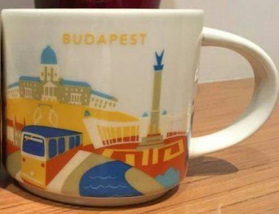 Starbucks You Are Here Budapest mug