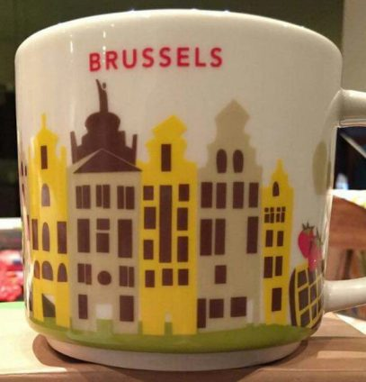 Starbucks You Are Here Brussels mug