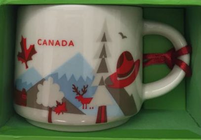 you are here ornament canada starbucks mugs