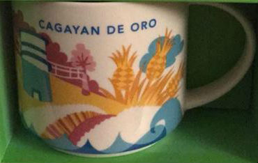 Starbucks You Are Here Cagayan De Oro mug