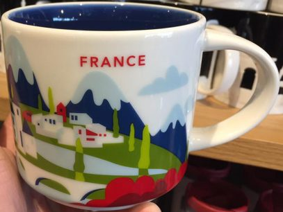 14oz Starbucks Paris You Are Here Coffee Mug Cup Series France City Cups New