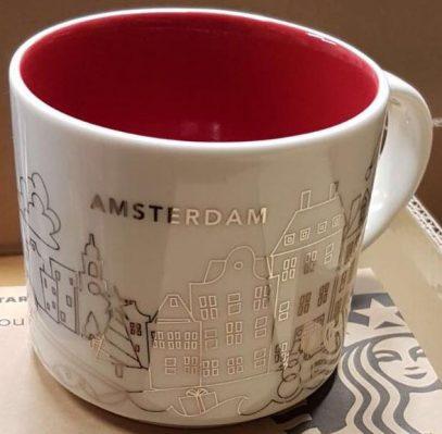 Starbucks You Are Here Christmas Amsterdam mug