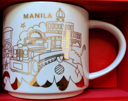 Starbucks You Are Here Christmas Manila mug