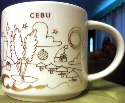Starbucks You Are Here Christmas Cebu mug