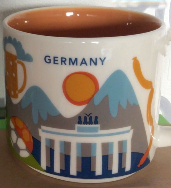 Starbucks /'You Are Here/' GERMANY YAH Limited Christmas 2018 Holiday Red City Mug