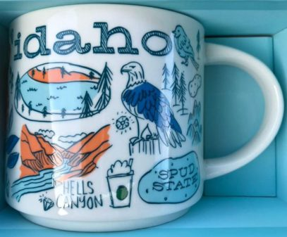 STARBUCKS 2 oz IDAHO Mug Collectible Been There Series Across the Globe Series