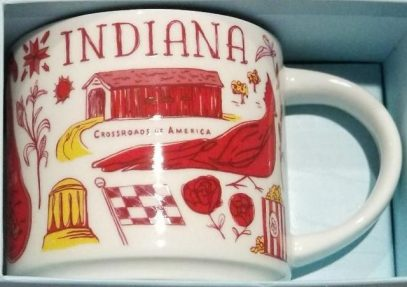 Starbucks Been There Indiana mug