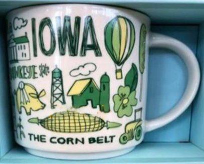 Starbucks Been There Iowa mug