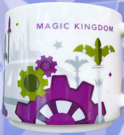 Starbucks You Are Here Disney Magic Kingdom 3 Tomorrowland mug