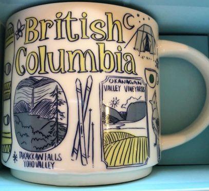 Starbucks Been There British Columbia mug