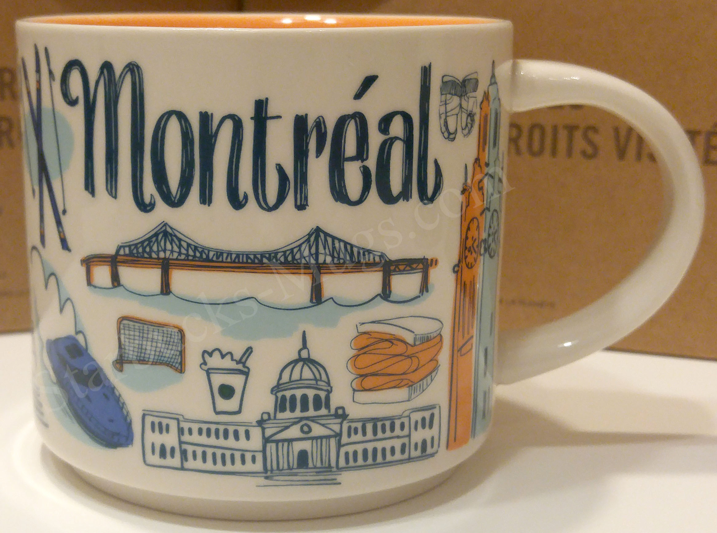 Details about  /Montreal Canada Multi Colored Ceramic Cup