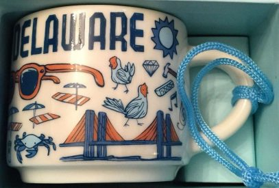 Starbucks Been There Ornament Delaware mug