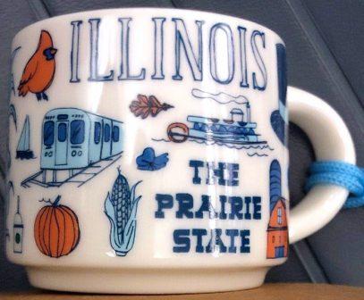 Starbucks Been There Ornament Illinois mug