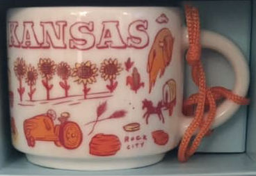 Starbucks Been There Ornament Kansas mug