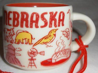 Starbucks Been There Ornament Nebraska mug