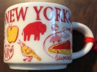 Starbucks Been There Ornament New York mug