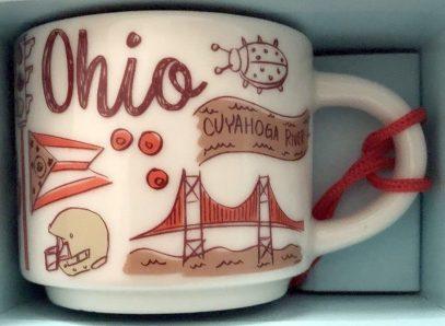 Starbucks Been There Ornament Ohio mug