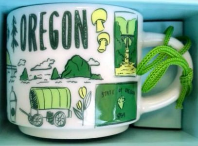 Starbucks Been There Ornament Oregon mug