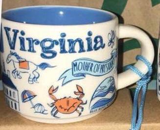 Starbucks Been There Ornament Virginia mug