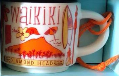 Starbucks Been There Ornament Waikiki mug