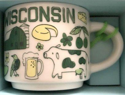 Starbucks Been There Ornament Wisconsin mug