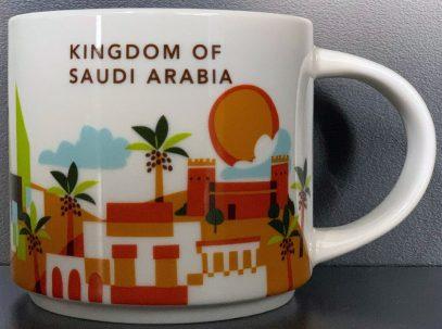 Starbucks You Are Here Kingdom of Saudi Arabia mug