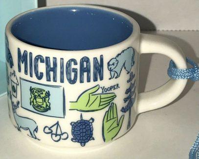 Starbucks Been There Ornament Michigan mug