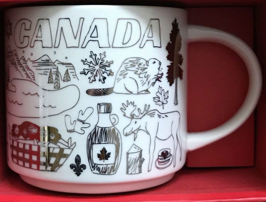 Been There Christmas Canada Starbucks Mugs
