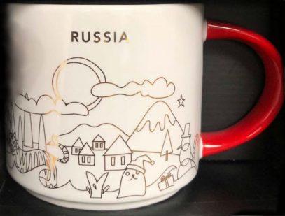 Starbucks You Are Here Christmas Russia mug