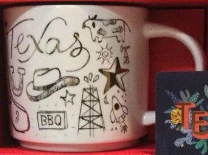 Starbucks Been There Christmas Texas mug