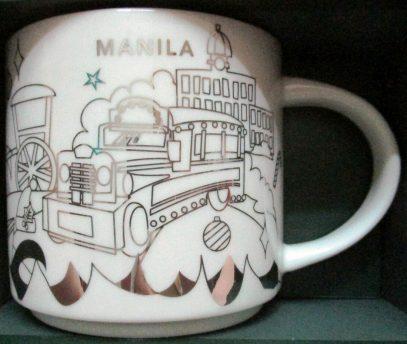 Starbucks You Are Here Christmas Manila 2 mug