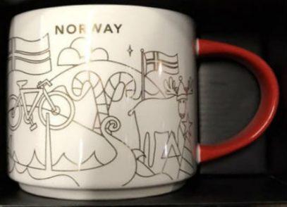 Starbucks You Are Here Christmas Norway mug