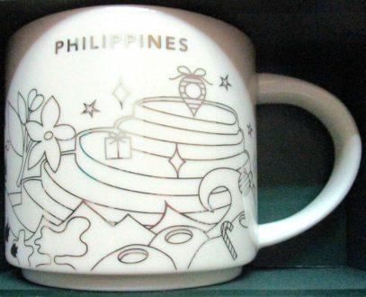 Starbucks You Are Here Christmas Philippines 2 mug